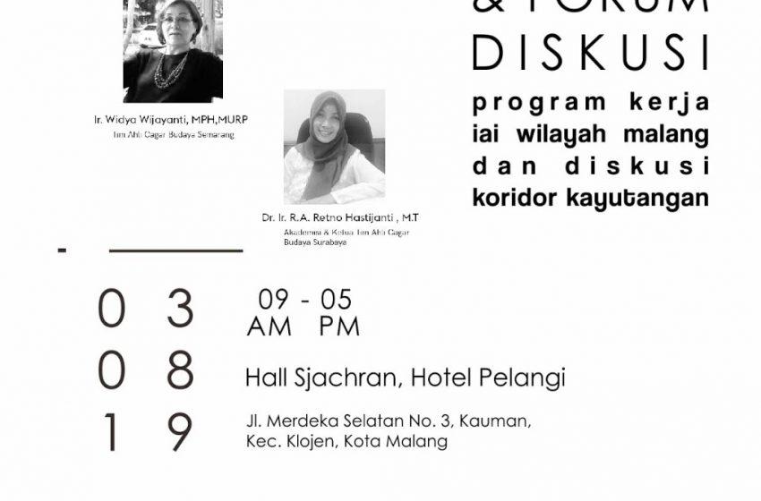 RAKER & FORUM DISKUSI koridor Kayutangan [3 Agustus 2019]